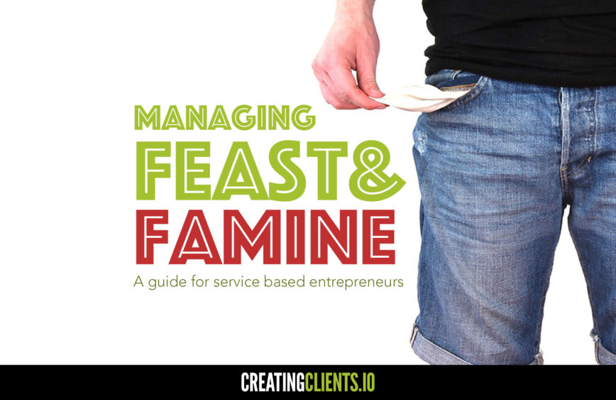 Managing the freelancer feast & famine cycle